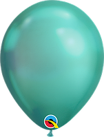 "Шар 11"" (28 см) Qualatex хром GREEN (зеленый) 50 од."