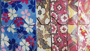 Комплект килимків в ванну і туалет квіти 50*80