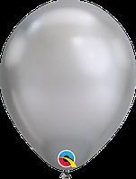 """Куля 11"""" (28 см) Qualatex хром SILVER (срібло) 50 од."""