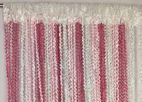 Шторы нити Спиральки Радуга 3х3м Белый Розовый Фрезовый ++