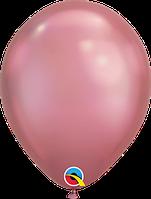 """Куля 11"""" (28 см) Qualatex хром MAUVE (рожевий) 50 од."""