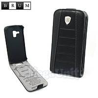 Brum Premium Кожаный чехол для Samsung Galaxy S duos S7562 / S7580 (No.32 black)
