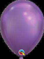 """Куля 11"""" (28 см) Qualatex хром PURPLE (бузковий) 50 од."""