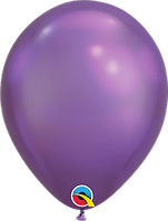 """Шар 11"""" (28 см) Qualatex хром PURPLE (сиреневый) 50 од."""