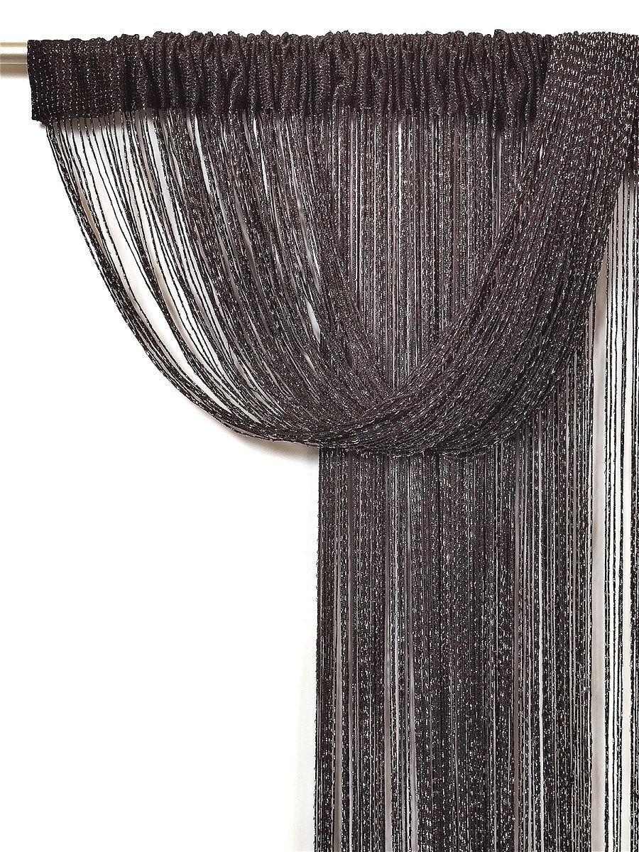 Штори нитки Дощ серпанок 3х3м Венге з люрексом