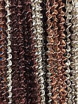 Шторы нити Спиральки Радуга 3х3м Шоколад Коричневый Бежевый