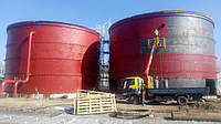 Резервуар вертикальный стальной РВС-50 м³ м.куб для воды с монтажом, изготовление емкостей и резервуаров