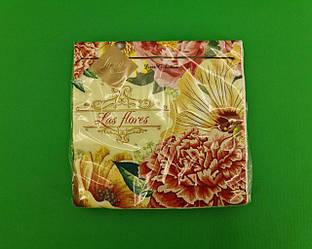 Дизайнерська серветка (ЗЗхЗЗ, 20шт) Luxy Дивовижні літні квіти (2079) (1 пач.)