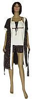 Комплект женский домашний, пижама и халат 20016 Modern коттон Молочно-коричневый