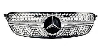 Решітка радіатора Mercedes C292 GLE Coupe стиль Diamond AMG (Срібло)