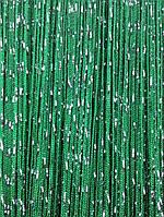Штори нитки Дощ серпанок 3х3м Смарагдові з люрексом