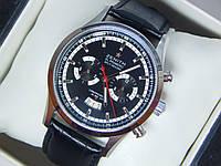 Мужские механические наручные часы Zenith на кожаном ремешке со всеми работающими (активными) циферблатами