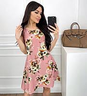 Женский сарафан А-силуэта с цветочным принтом