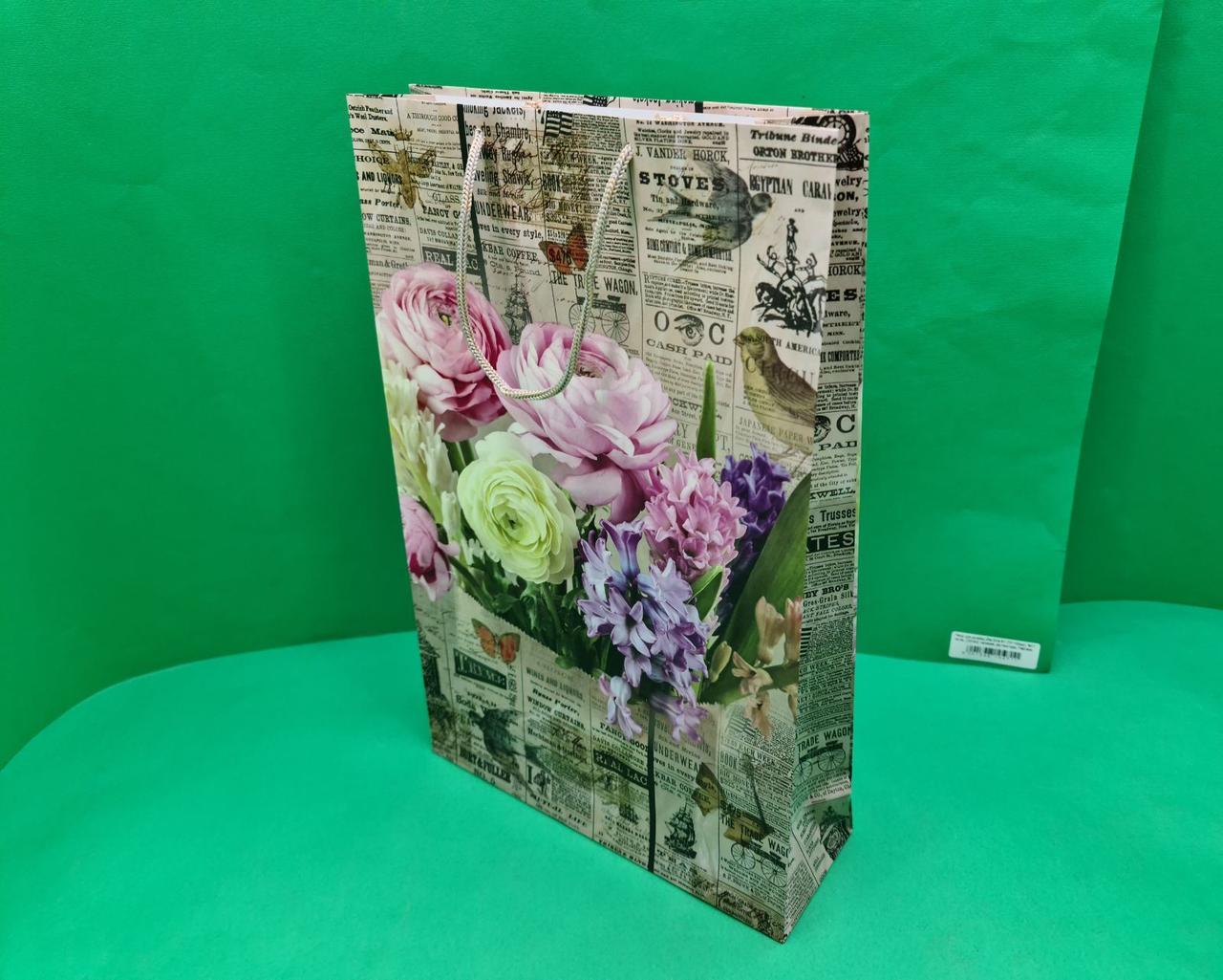 Пакет паперовий Великий вертикальний 25/37/8(артBV-097) (12 шт)