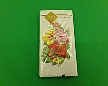 Красивая салфетка (ЗЗхЗЗ, 10шт) Luxy MINI Тропические цветы (2044) (1 пач)