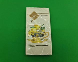 Красивая салфетка (ЗЗхЗЗ, 10шт) Luxy MINI Чашка лимонов (2029) (1 пач)
