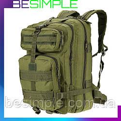 Армейский Рюкзак 45л Oxford 800D - A12 штурмовой военный (50х30х30 см) хаки