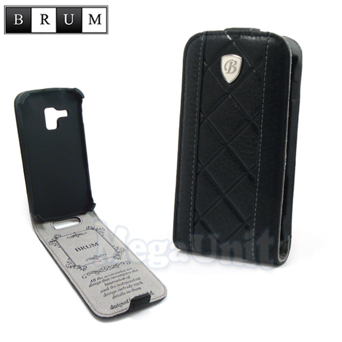 Brum Premium Шкіряний чохол для Samsung Galaxy S duos s7562 zka / S7580 (No.26 black)