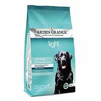 Arden Grange Light chicken/rice Корм сухой для взрослых собак диетический со свежей курицей и рисом 2 кг