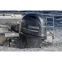 Двигун для човна Yamaha F100FETL- підвісний двигун для яхт і рибальських човнів, фото 3