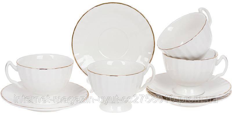 """Чайний набір Princess Bona """"Вів'єн"""" 4 чашки 200мл і 4 блюдця"""