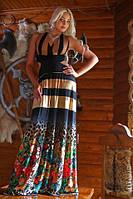 Летнее платье в пол Альбина Медини 50-52р