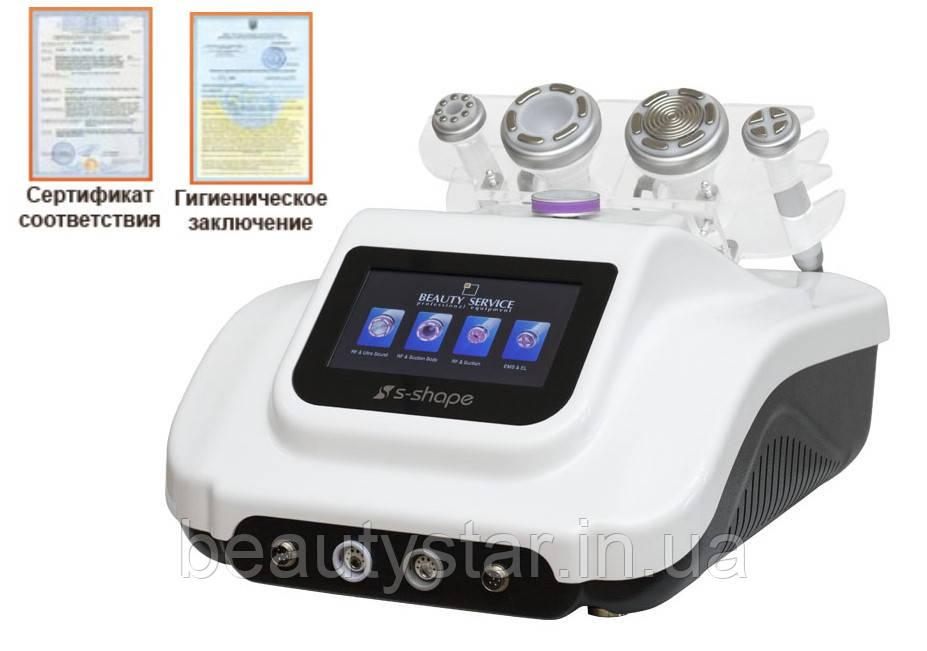 Апарат косметологічний: кавітація + RF-ліфтинг + вакуумний масаж (3-в-1) модель 9392
