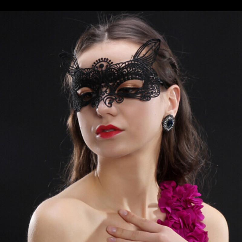 Ажурна маска з вушками