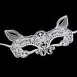Ажурна маска з вушками. Біла, фото 2