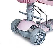 Самокат триколісний Scooter Smart 5в1 Сидіння Батьківська ручка Широкі світяться колеса, фото 3