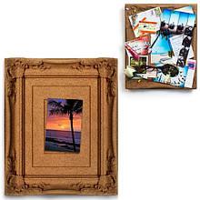 """Коркова дошка-рамка для фотографій і заміток """"Ретро"""""""