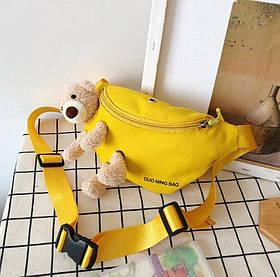 Сумка бананка Duo Ning Bag желтая