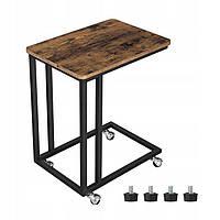 Кофейный столик на колесах ЛОФТ LOFT Songmics