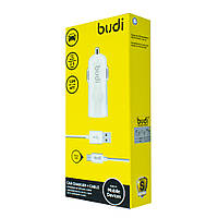 Car charger Budi 1 USB 2.4A with MicroUSB cable 1.2m, M8J062M