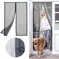 Антимоскитная сетка для дверей на магнитах 1,2 х 2,0 м, цвет серый титан MVM MN-1200 T