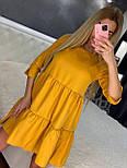 Летнее платье расклешенное с рукавом до локтя короткое трендовое (р. 42-46) 7032555, фото 2
