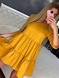 Летнее платье расклешенное с рукавом до локтя короткое трендовое (р. 42-46) 7032555, фото 5