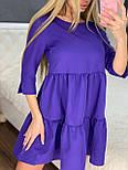 Летнее платье расклешенное с рукавом до локтя короткое трендовое (р. 42-46) 7032555, фото 3