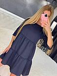 Летнее платье расклешенное с рукавом до локтя короткое трендовое (р. 42-46) 7032555, фото 4
