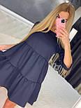 Летнее платье расклешенное с рукавом до локтя короткое трендовое (р. 42-46) 7032555, фото 6