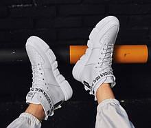 Высокие белые кроссовки мужские с надписями