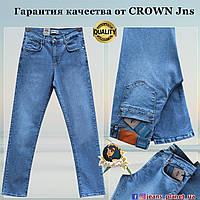 Мужские качественные классические джинсы Crown голубого цвета весна-лето