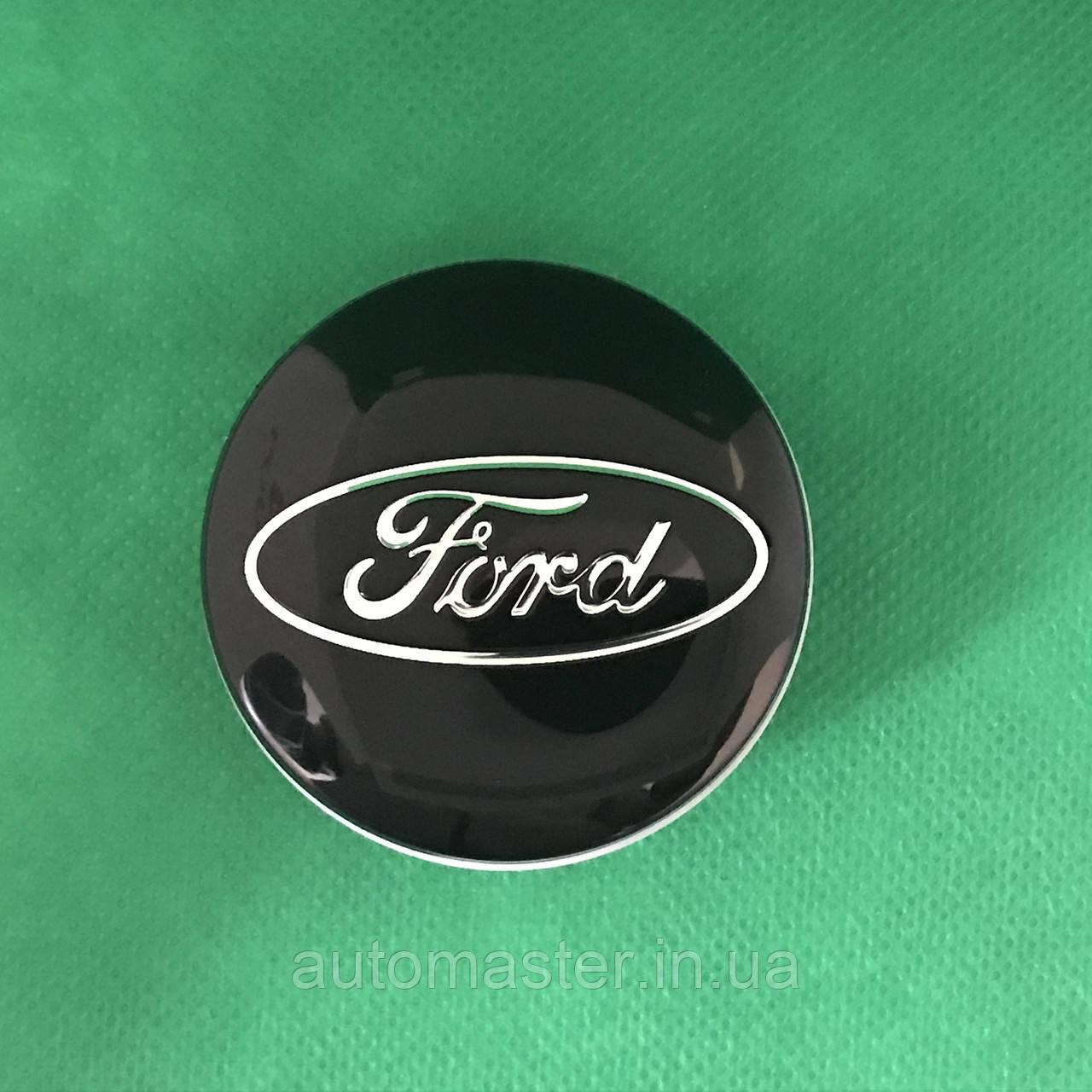 Ковпачки заглушки на литі диски Ford Mondeo, Kuga, Escort 54/50/9, 6M21-1003-AA, чорні
