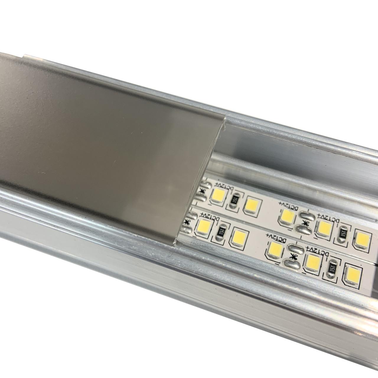 Профиль Световая Линия Light Line 30mm (+ Черная поликарбонатная вставка)