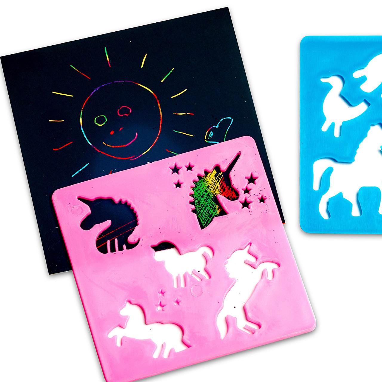 Набор для скретч букинга Rainbow Scretch скретч набор для творчества детский разноцветный с шаблонами
