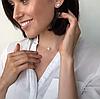 Женский кулон подвеска, камушек фианит в обрамлении из серебра 925 пробы Оникс на ювелирной леске., фото 6
