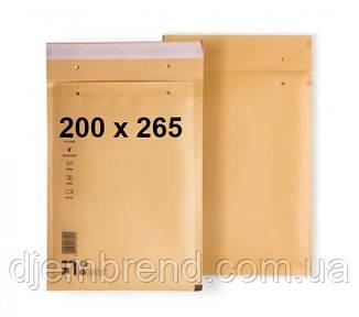 Конверт бандерольный противоударный 220 х 265 мм с воздушной-пузырчатой прослойкой, 100 шт