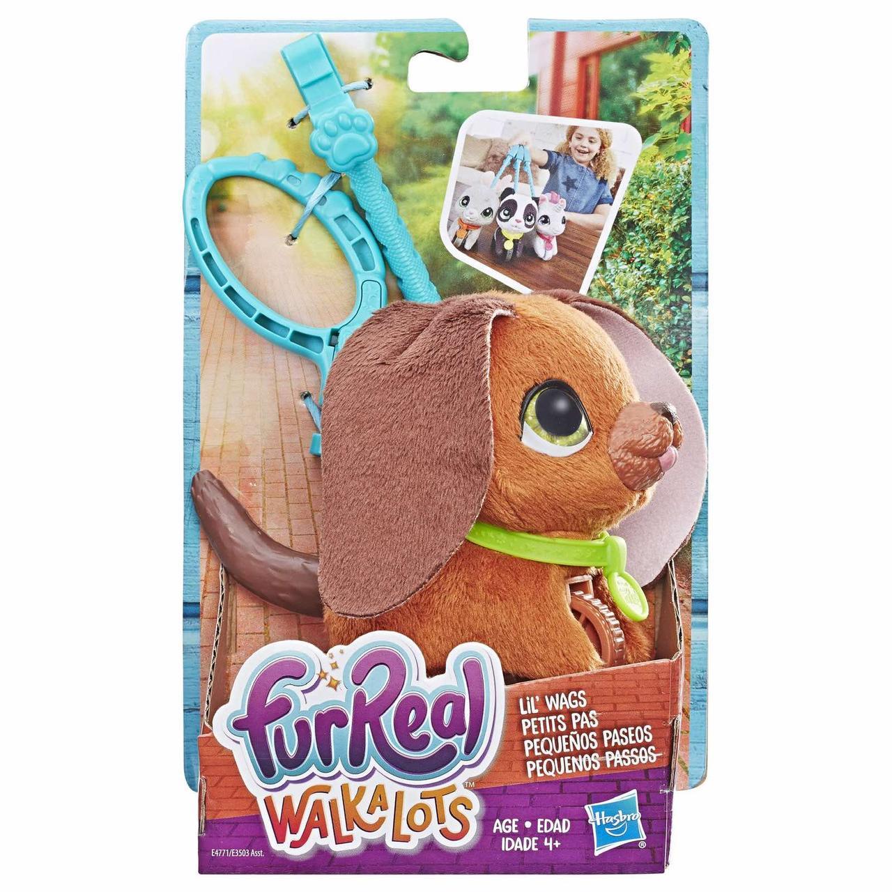 Интерактивная игрушка щенок на поводке fur real walkalots lil wags