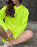 Спортивный костюм прогулочный с шортами и худи свободным с капюшоном повседневный (р. 42-52) 56051238, фото 10