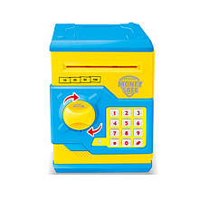 Детская копилка/сейф MK 3916 с купюроприемником (Желтый)